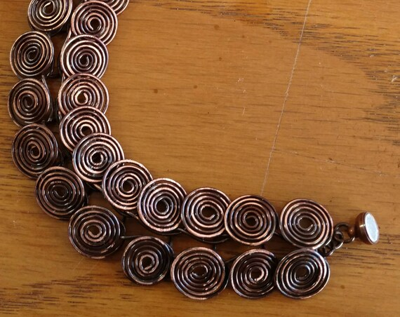 Coiled Aged-Copper Bracelet