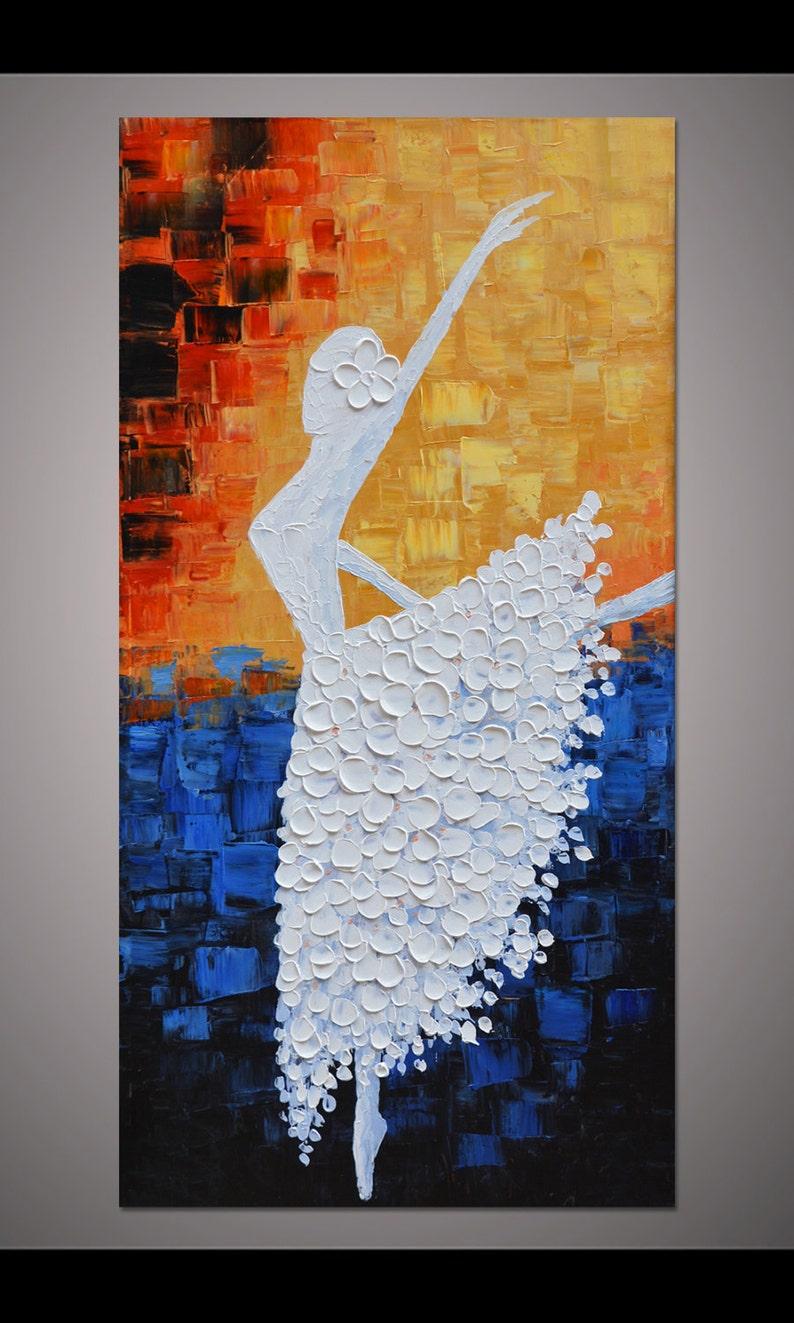 11af70f4be Bailarina de baile pintadas a mano pintura pared cuadro living