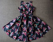 1980s Marimekko Dress Multicolor Belted Tunic Tent Finland Size M L EU 40 RARE vintage