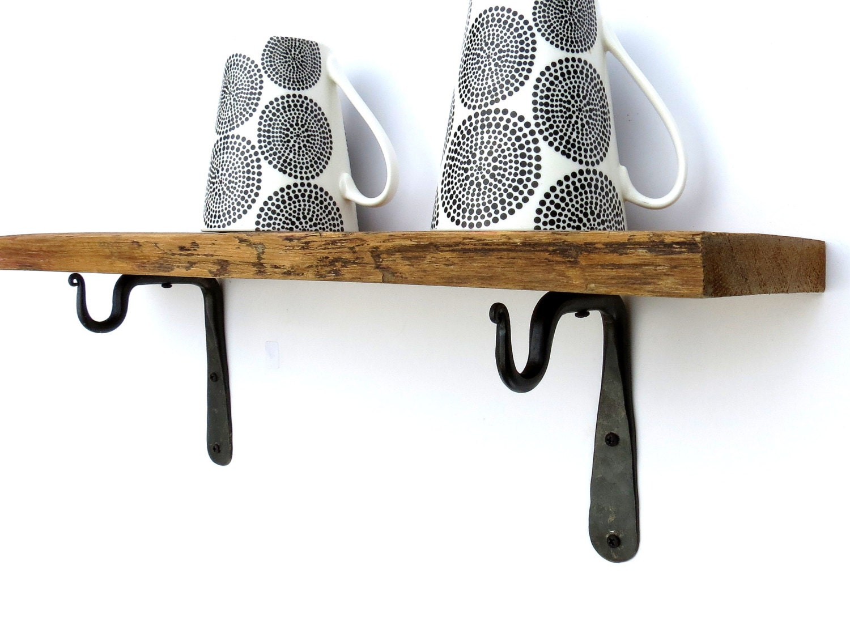 2 Mini Regal Klammern Schmiedeeisen Haken Küche Utensil Becher   Etsy