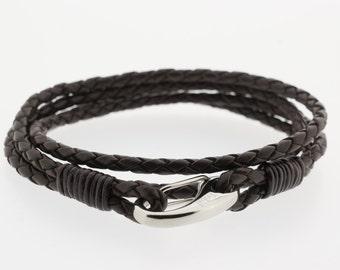 Men's Bracelet - Men's Leather Bracelet