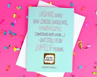 Proposal Scratch Card - Will You Marry Me - Boyfriend - Girlfriend - Blank Inside - Free UK Postage!