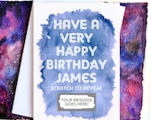 Personalised Happy Birthday Scratch Card - Personalized - Greetings Card - Scratch Off