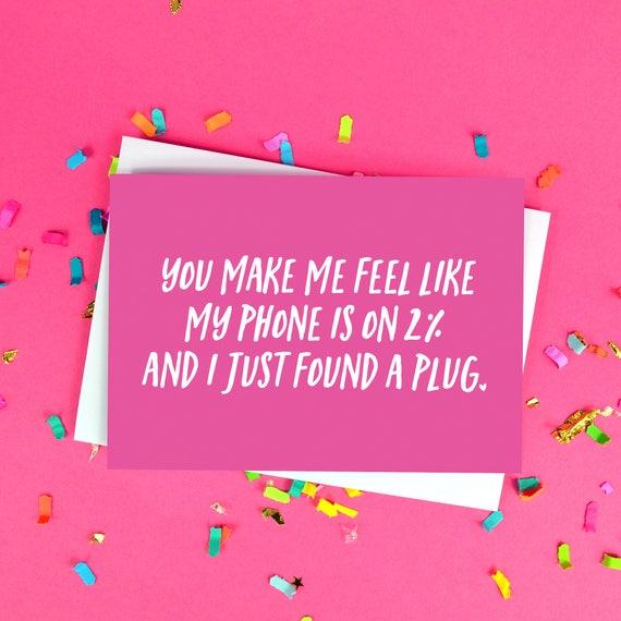 Karte Geburtstag Freundin.Lustige Freund Oder Freundin Karte Geburtstag Valentinstag Lustige Telefon Batterie Zitat Ich Liebe Dich Karte