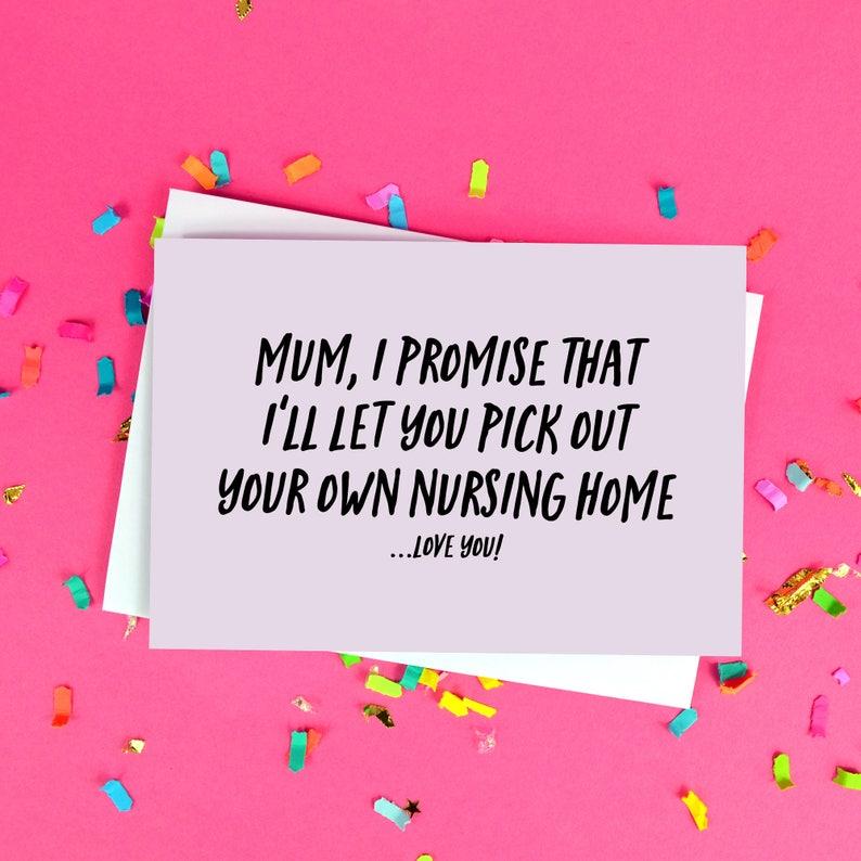 Lustige Muttertag Karte Mama Altersheim Zitat Lustige Etsy