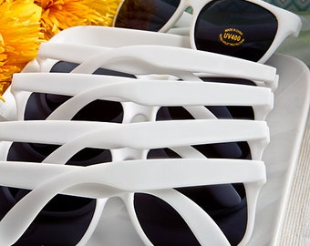 f17d9f73294 Plain White Party Sunglasses (Pack of 10) Summer Wedding Party Pool Party  Favors