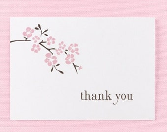 Cherry Blossom Wedding Thank You Notes (Pack of 50)