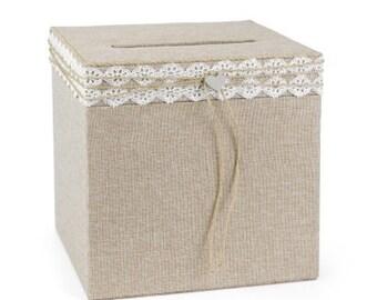 Rustic Wedding Money Box Card Holder Country Wedding