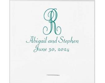 Scroll Monogrammed Wedding Matchbooks Elegant Wedding Favors