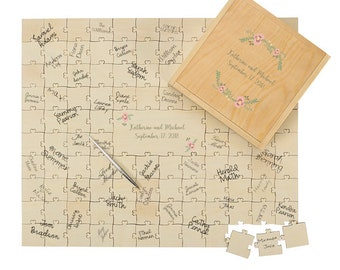 Personalized Puzzle Wedding Guest Book Alternative