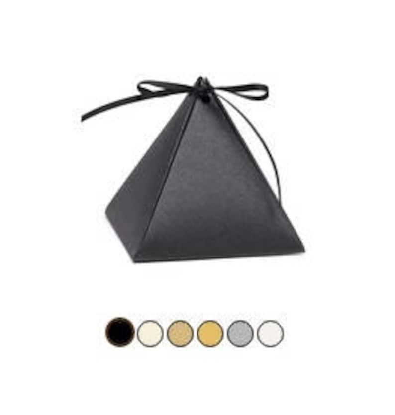 Christmas Choose QTY Pearl White Pyramid Wedding Favour Boxes Birthdays