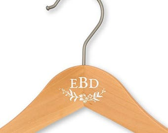 Monogrammed Wooden Clothes Hanger Bridal Wedding Gown Bridesmaid Dresses