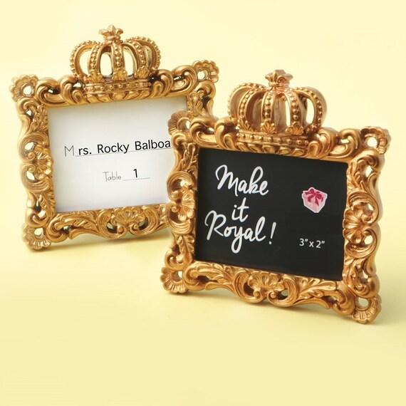 Royale Gold Baroque Wedding Place Card Holder Photo Frame Birthday Bridal Favor