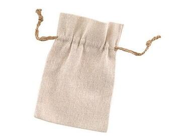 Linen Wedding Favor Bags (Pack of 25) Rustic Wedding