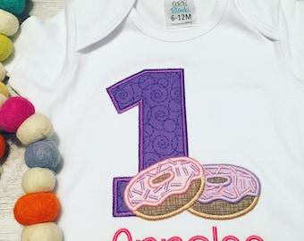Donut Birthday Shirt - First Birthday Donut - Second Birthday - Third Birthday - Donut Grow Up Birthday - Donuts - Donut Shirt