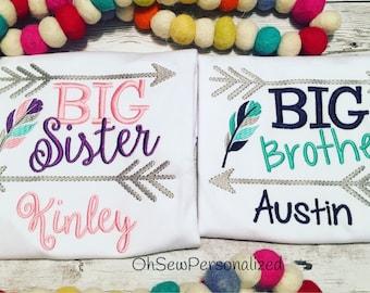 Sibling Shirt Sets - Brother Sister Shirts - Sister Shirts - Brother Shirts - Sister Brother Shirt - Big Sister Shirt - Big Brother Shirt