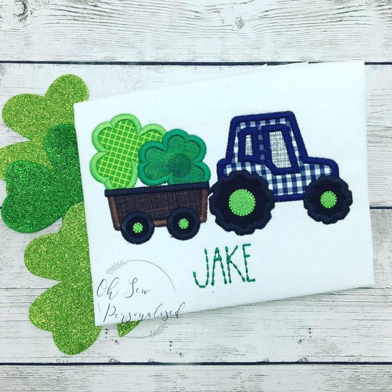 Loads of Luck St Patricks Day Tractor Clover Toddler//Kids Long Sleeve T-Shirt
