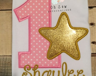 Star first birthday shirt - twinkle star birthday shirt -star birthday shirt