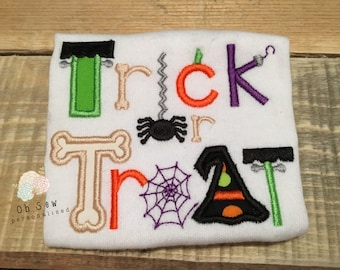 Trick or treat shirt - Halloween Shirt for Girls - Halloween Shirt for Boys - Girl Halloween Shirt - Halloween Shirt - Trick Or Treat