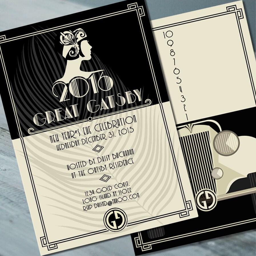 Great Gatsby Invitation birthday invitation party | Etsy