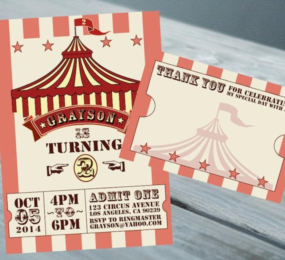 Cartes Invitation Anniversaire Cirque Et Nous Vous