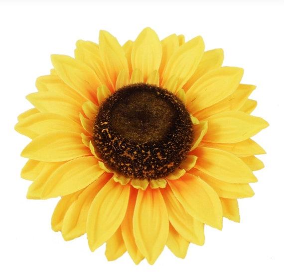 Sunflower sunflower head silk flowers wreath supplies etsy image 0 mightylinksfo