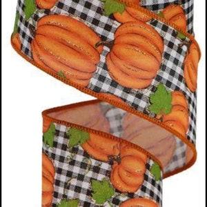 Fall ribbon pumpkin ribbon wreath ribbon wreath supplies craft supplies ribbon bulk ribbon burlap ribbon wreath embellishments craft ribbon
