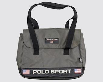90s POLO SPORT BAG polo sport ralph lauren carry-on hand bag usa polo bear  gray grey rrl 1990s Vintage 248e4d9e3c