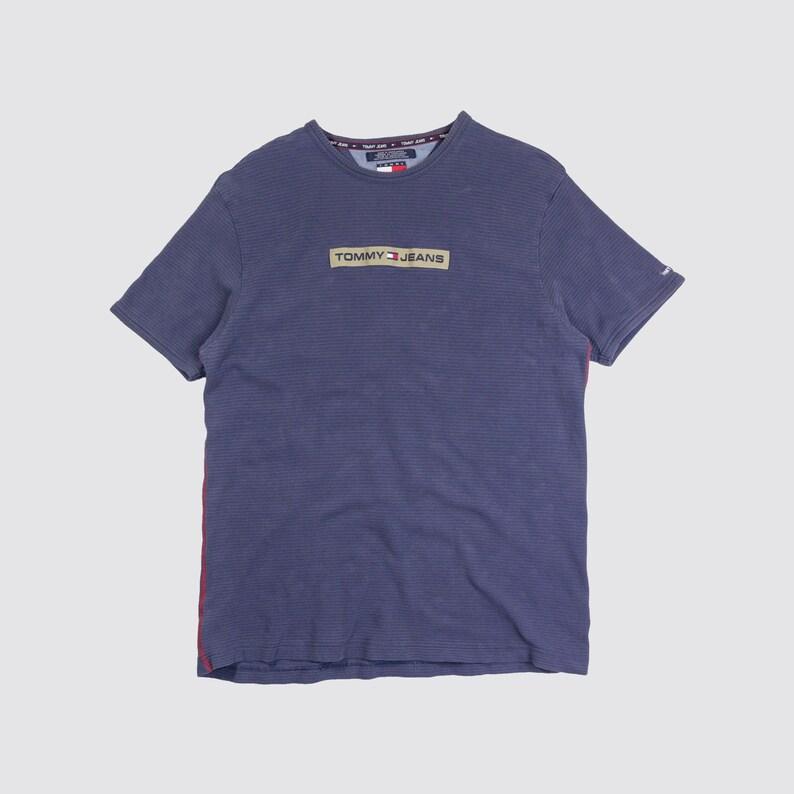 9d1e34ef023de 90s TOMMY HILFIGER TSHIRT box logo tee tommy jeans shirt