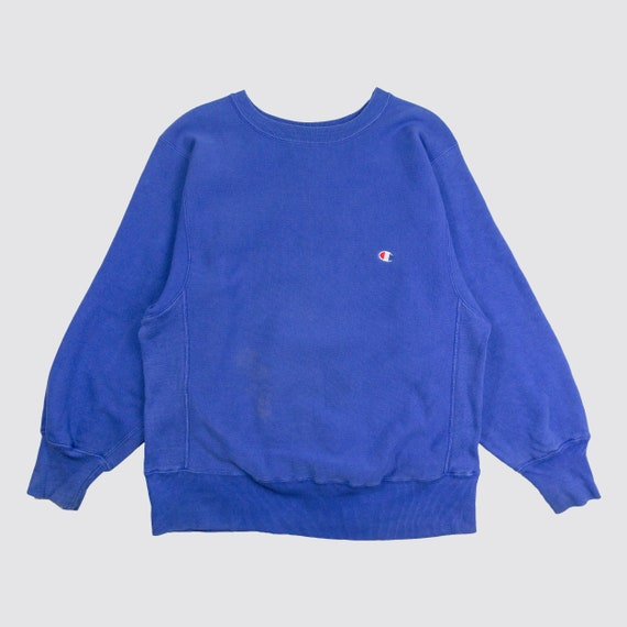 377f8a9af4ed 80s BLUE CHAMPION SWEATER champion reverse weave crewneck