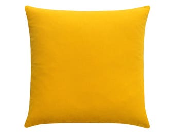 Solid Yellow Throw Pillow Cover - Yellow Accent Pillow Cover - Yellow Pillow  - Corn Yellow Pillow - Decorative Pillow - Solid Yellow Cover 08c3cba10