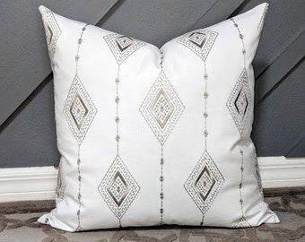 Silver Throw Pillow Etsy