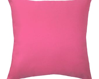 Pink Solid Pillow Cover - Hot Pink Pillow Case - Pink Cushion Cover  - Girls Room Pillow - Solid Candy Pink Decorative Pillow - Pink Pillow