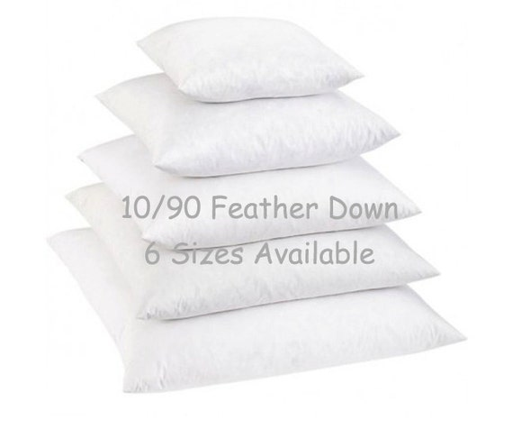 40x40 Down Pillow Insert 4040 Down Feather Blend Pillow Etsy New Feather And Down Pillow Inserts