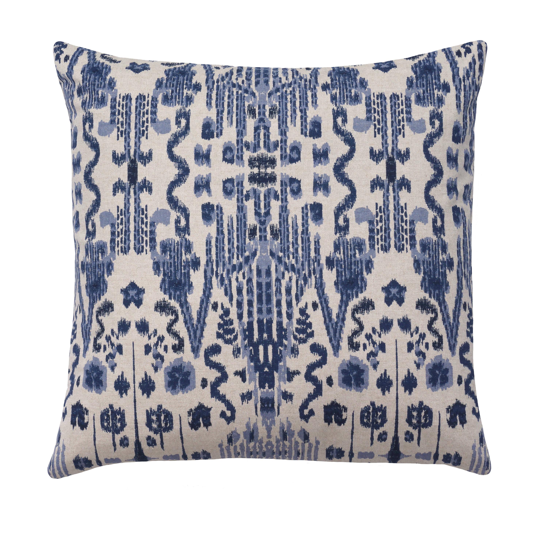 Ikat Pillow Cover Lacefield Mumbai Indian Blue Pillow