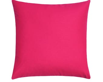 Solid Hot Pink Pillow Cover, Fuchsia Linen Decorative Zipper Pillow Cover, Pink Throw Pillow, Pink Cushion Cover, Accent Pillow