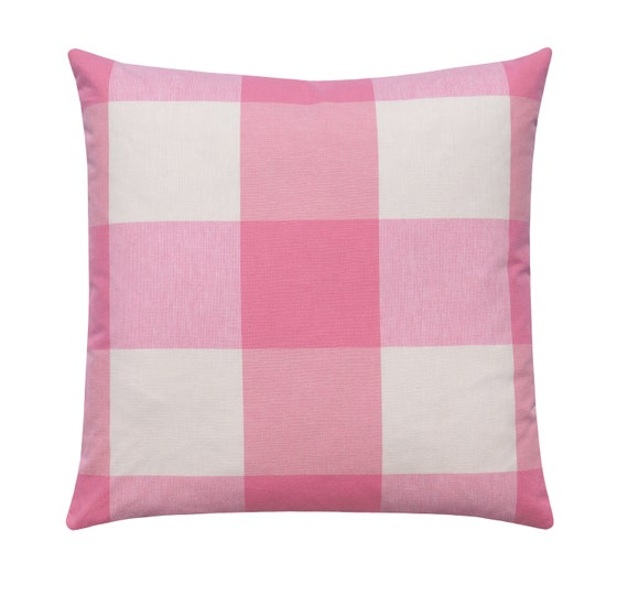 Ivory Buffalo Check Pillow Cover