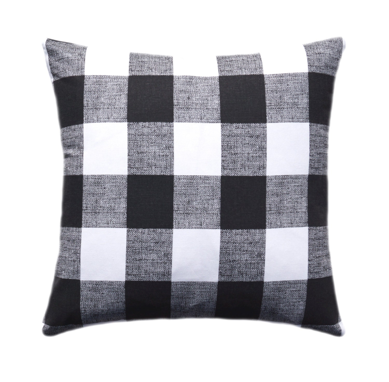 Black And White Buffalo Check Pillow Cover Throw Pillow Etsy