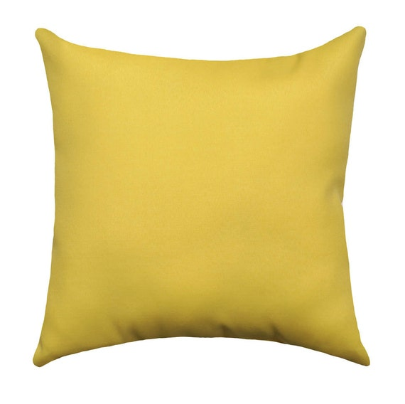 Solid Yellow Outdoor Throw Pillow Cover Yellow Patio Pillow Etsy