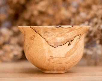 Miniature Wooden Bowl - Spalted Maple