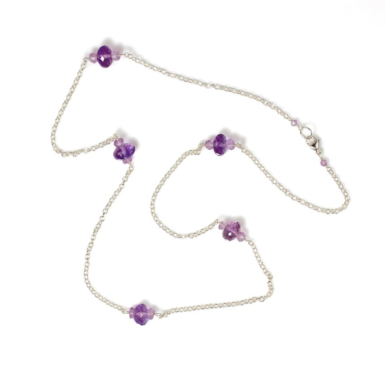 Amethyst and Sterling Silver Necklace image 0