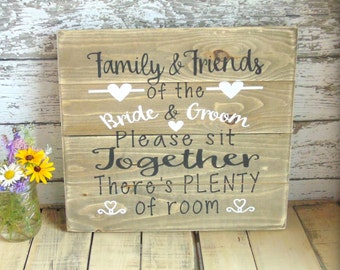 Wedding Signage - Wedding Reception Decor - Rustic Wedding - Bride and Groom - Plenty Of Room - Handmade Wooden Sign - Country Wedding Decor