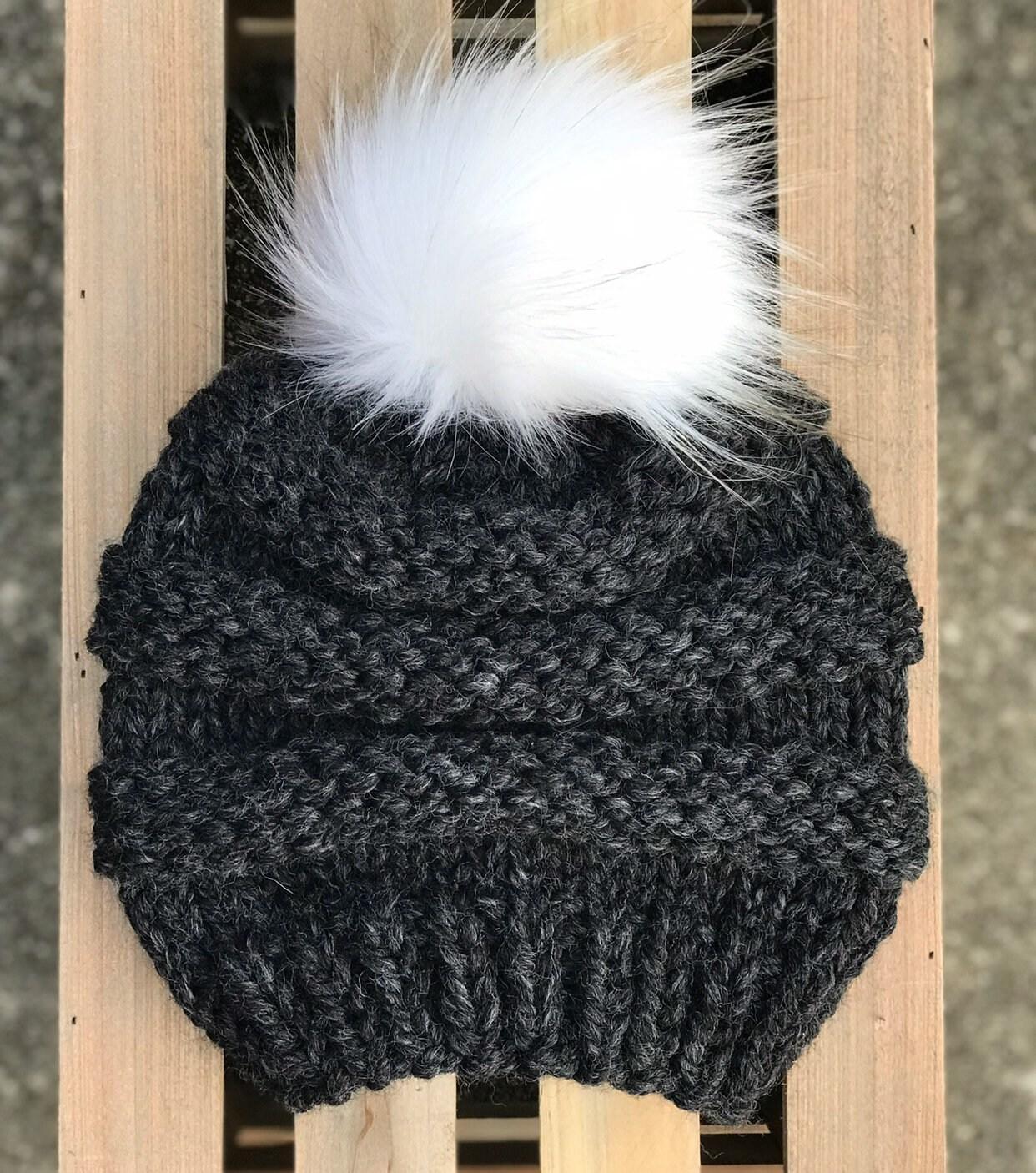 dress - Pom pom beanies knitted for fall-winter video