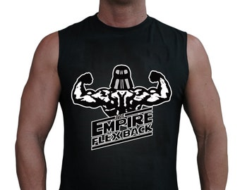 b9bd9017a23fe3 Star Wars Empire Flex Back Stormtrooper Men s Sleeveless Workout Tank Top