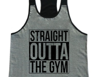 f7da1cba04304 Straight Outta The Gym Mens Workout Gym Stringer Tank Top