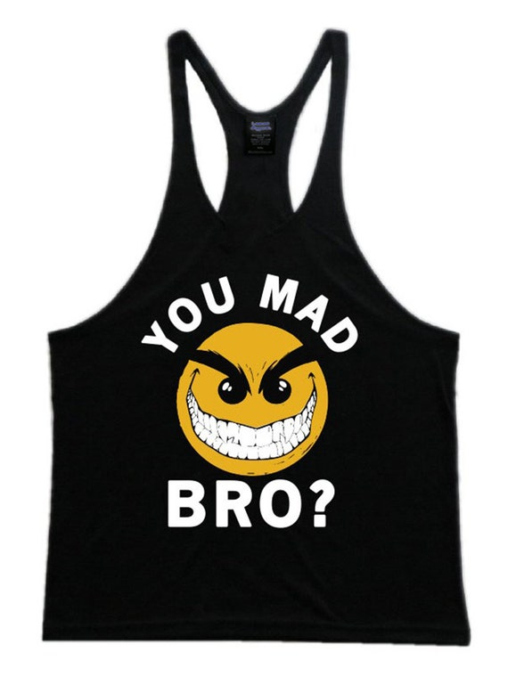 Vous fou Bro Mens entraînement Gym Stringer Tank Top