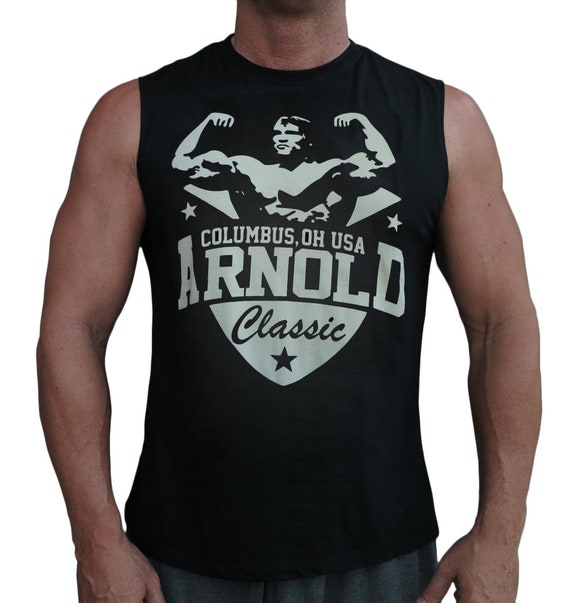 8489f5378aa3f7 Arnold Classic Men s Workout Sleeveless Gym Tank Top