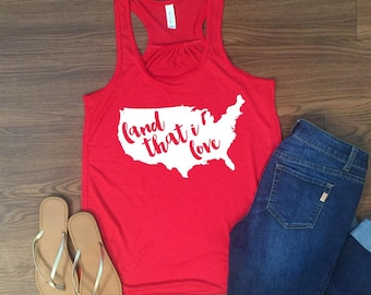 Land that I Love Next Level racerback tank