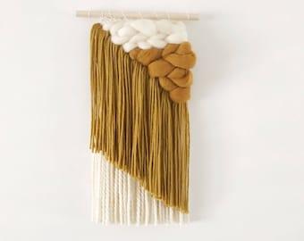 Mustard Asymmetrical Weaving