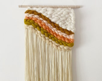 A Beautiful Mess x Etsy Handwoven Rainbow Wall Hanging